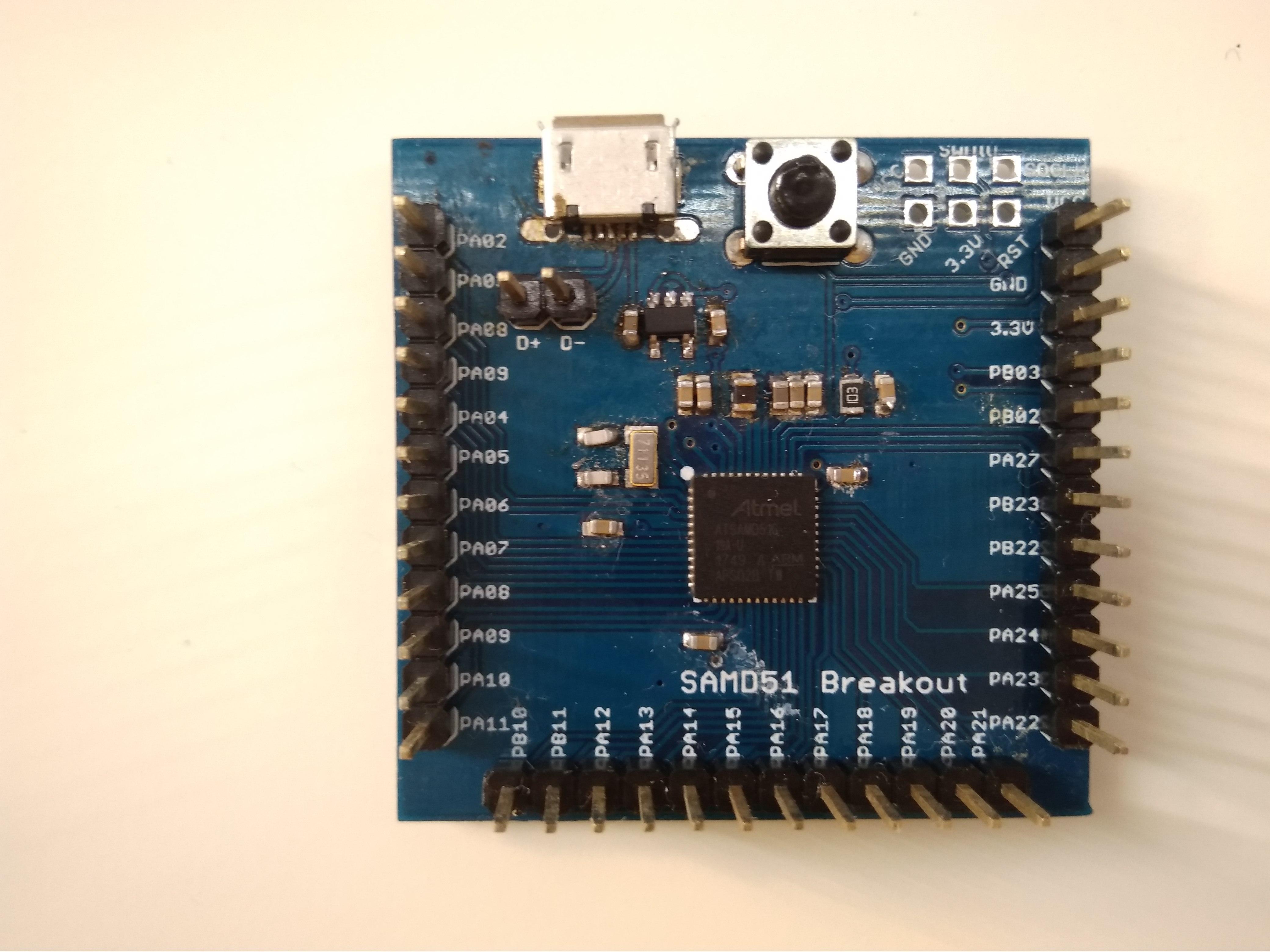 Building a SAMD51 Breakout board